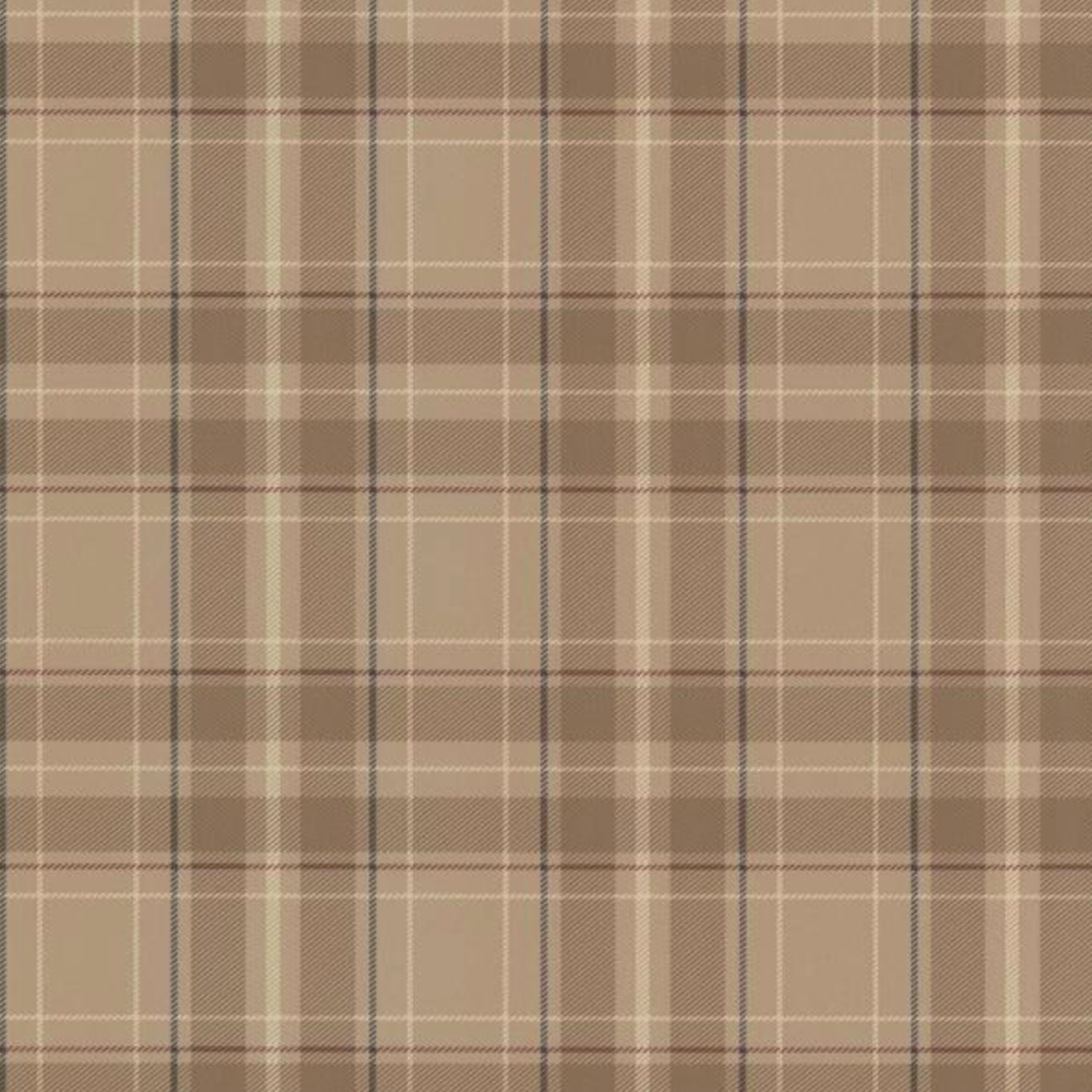 Caledonia Beige Plaid Beige Wallpaper from Home Depot