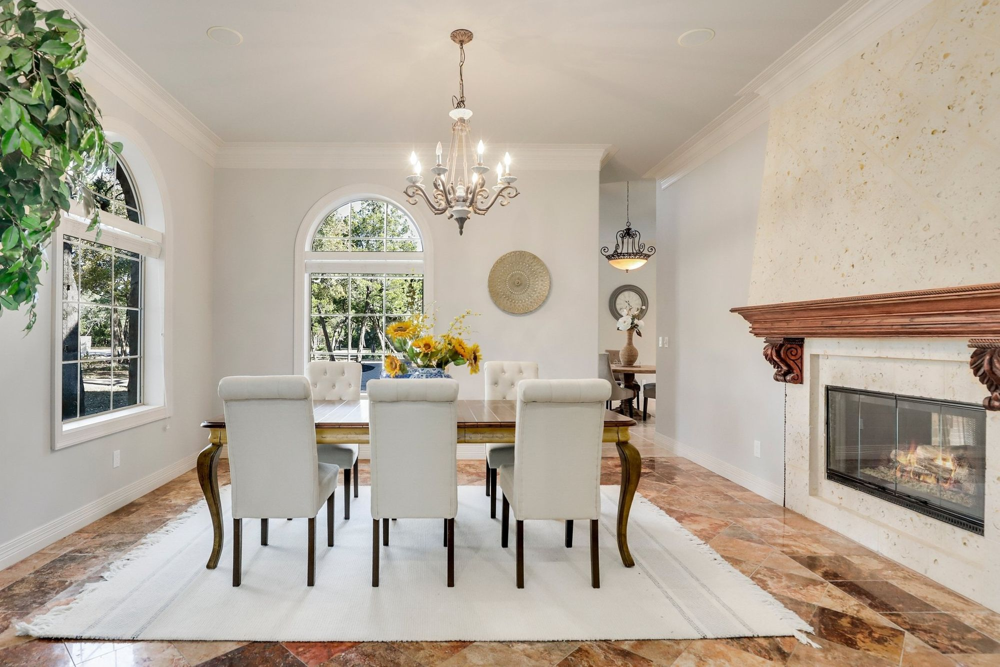 French country estate - dining room
