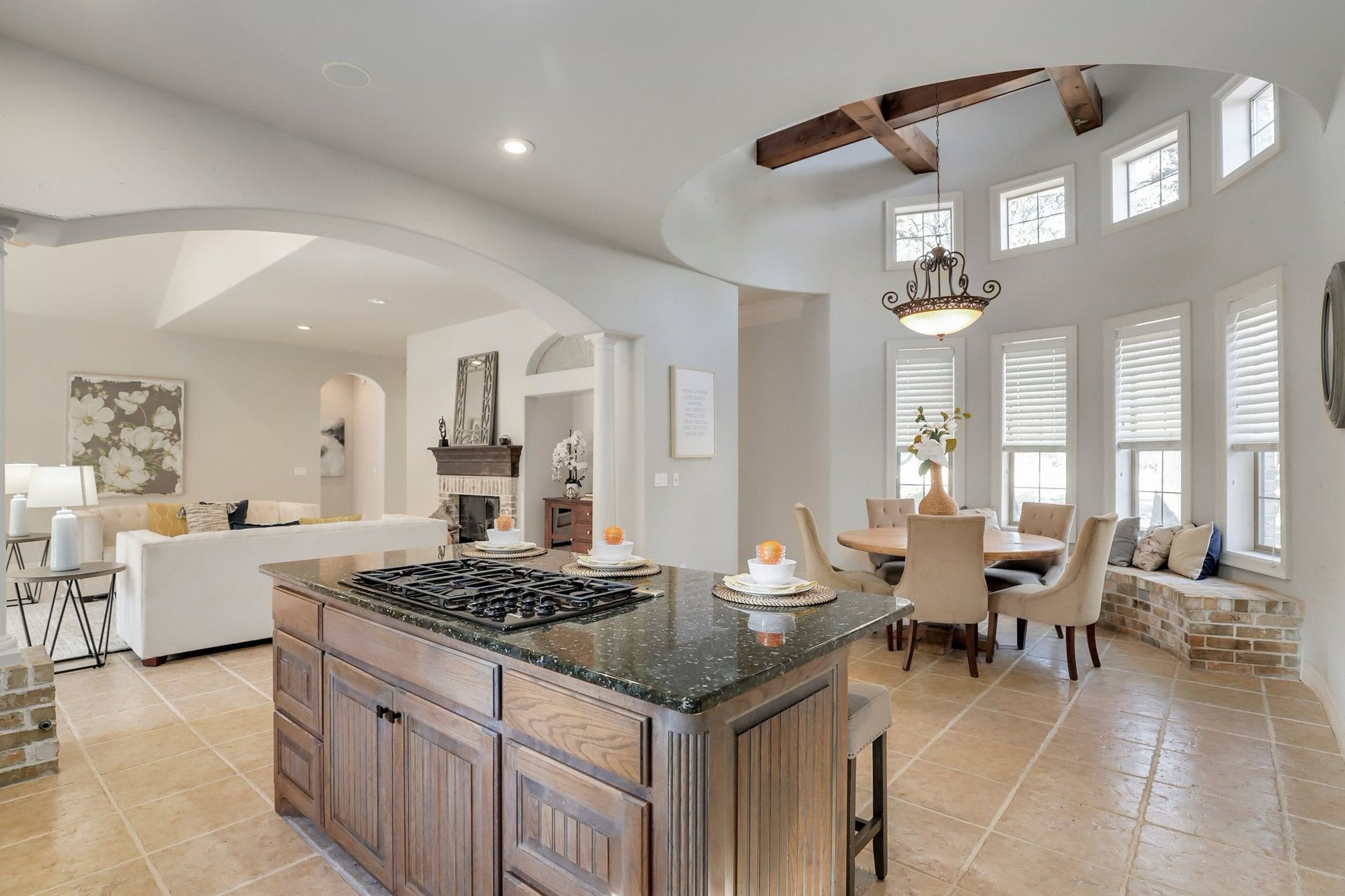 French country estate - kitchen