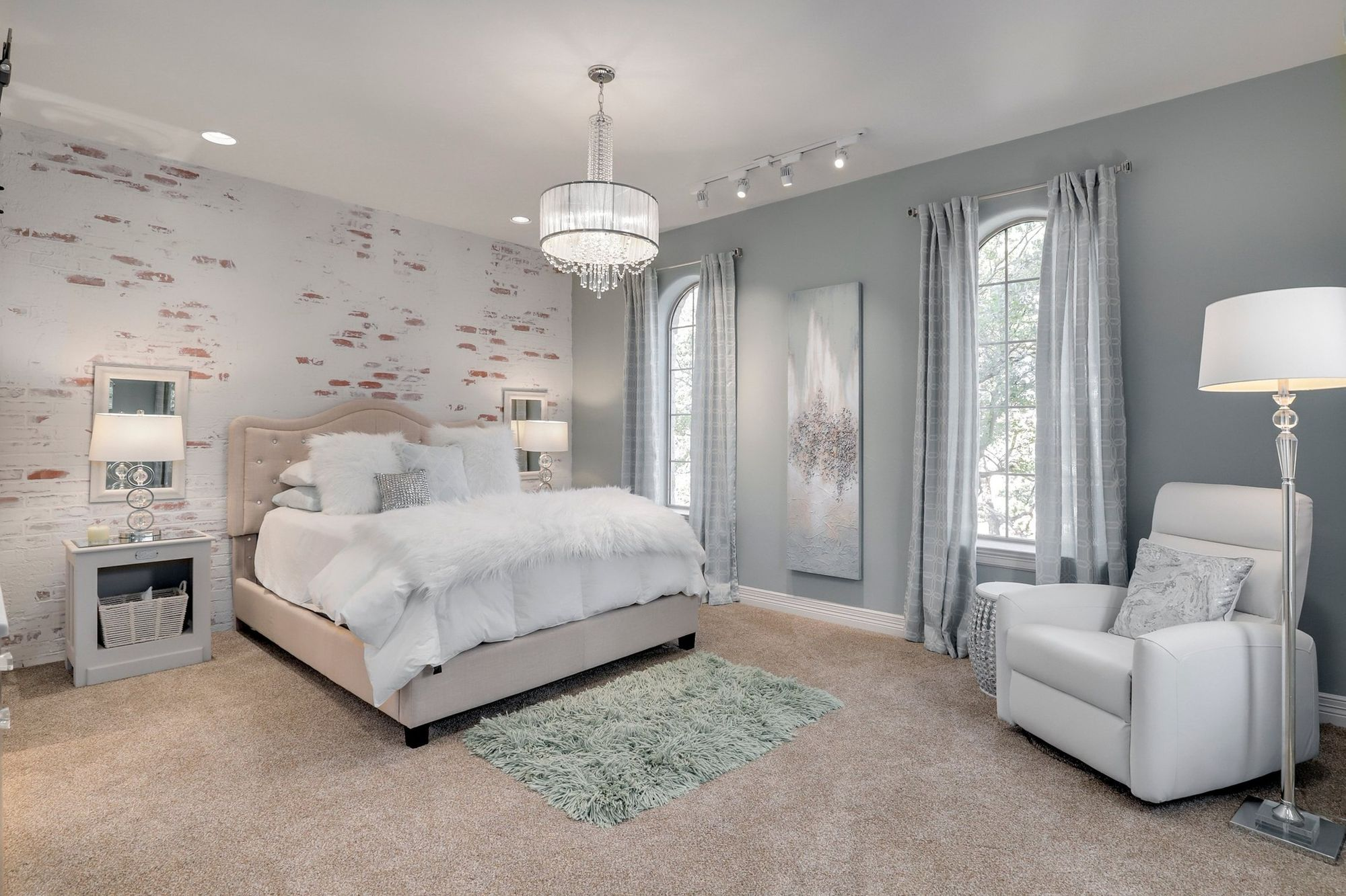 French country estate - bedroom