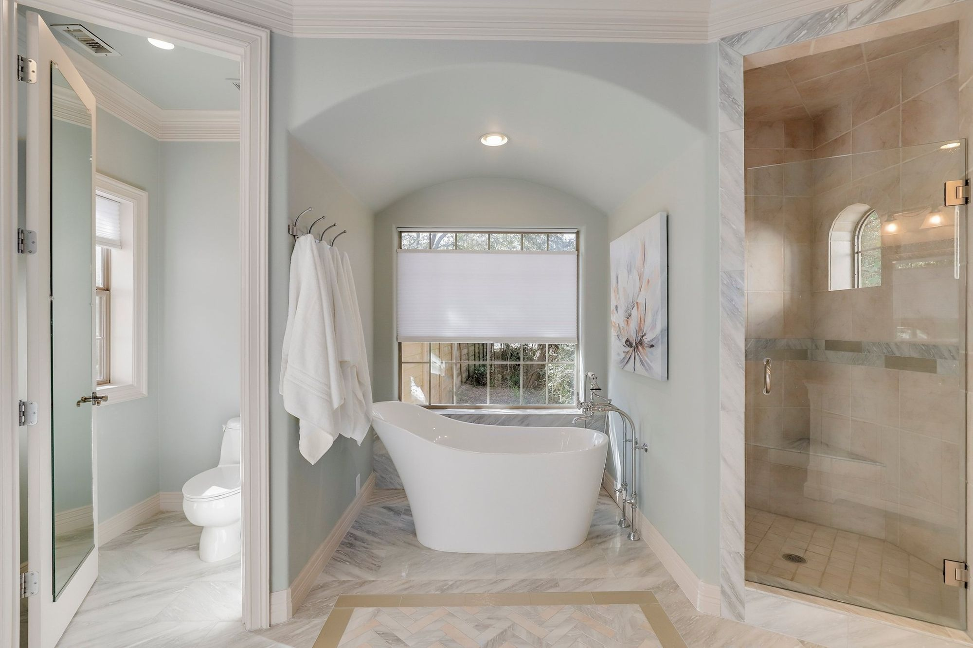 French country estate - bathroom