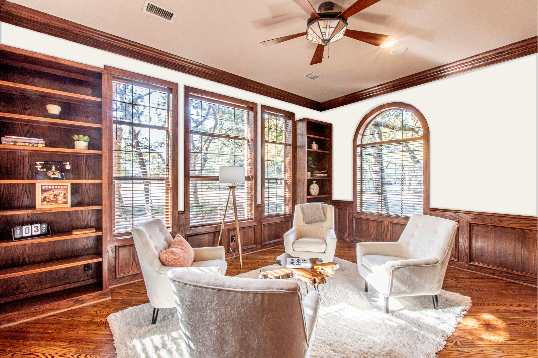 French country estate - reading room