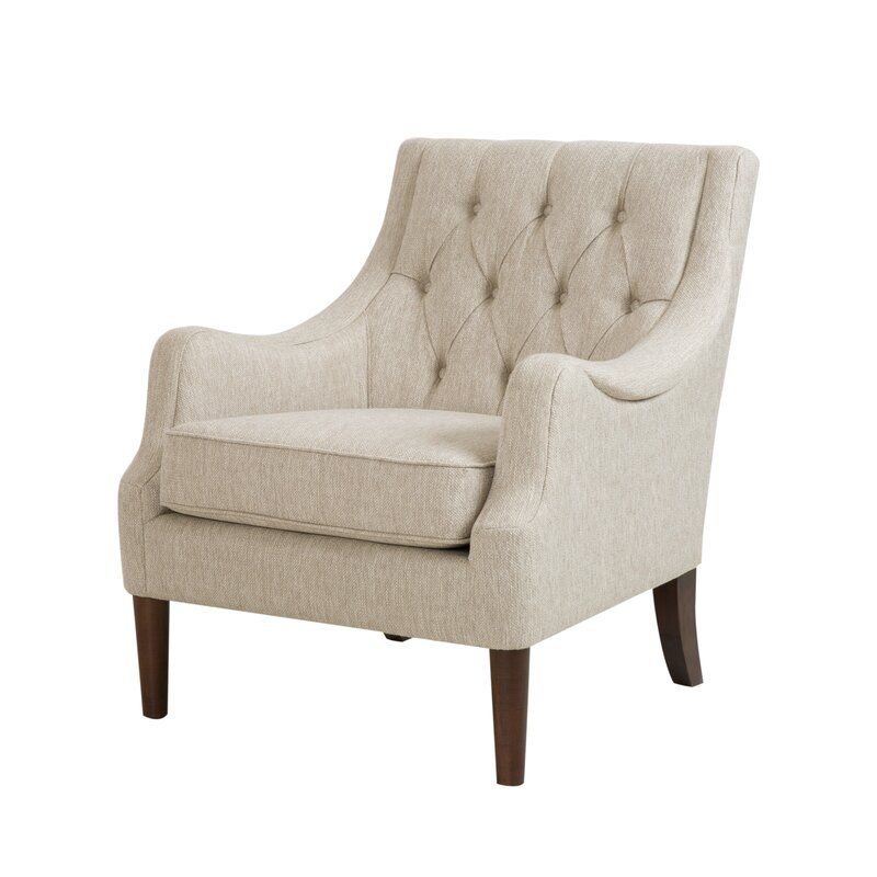 Tufted Polyester Wingback Chair from Wayfair