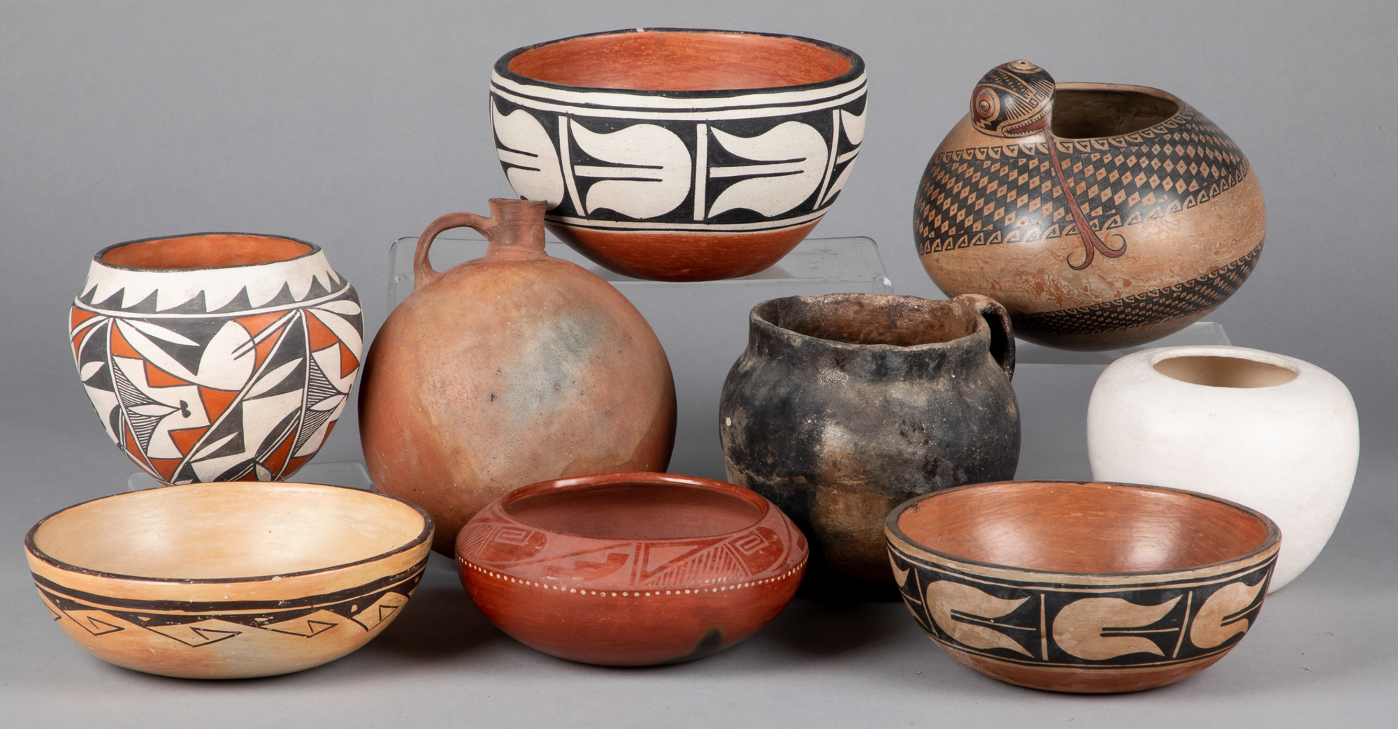 Tribal pottery vessels from Pook&Pook