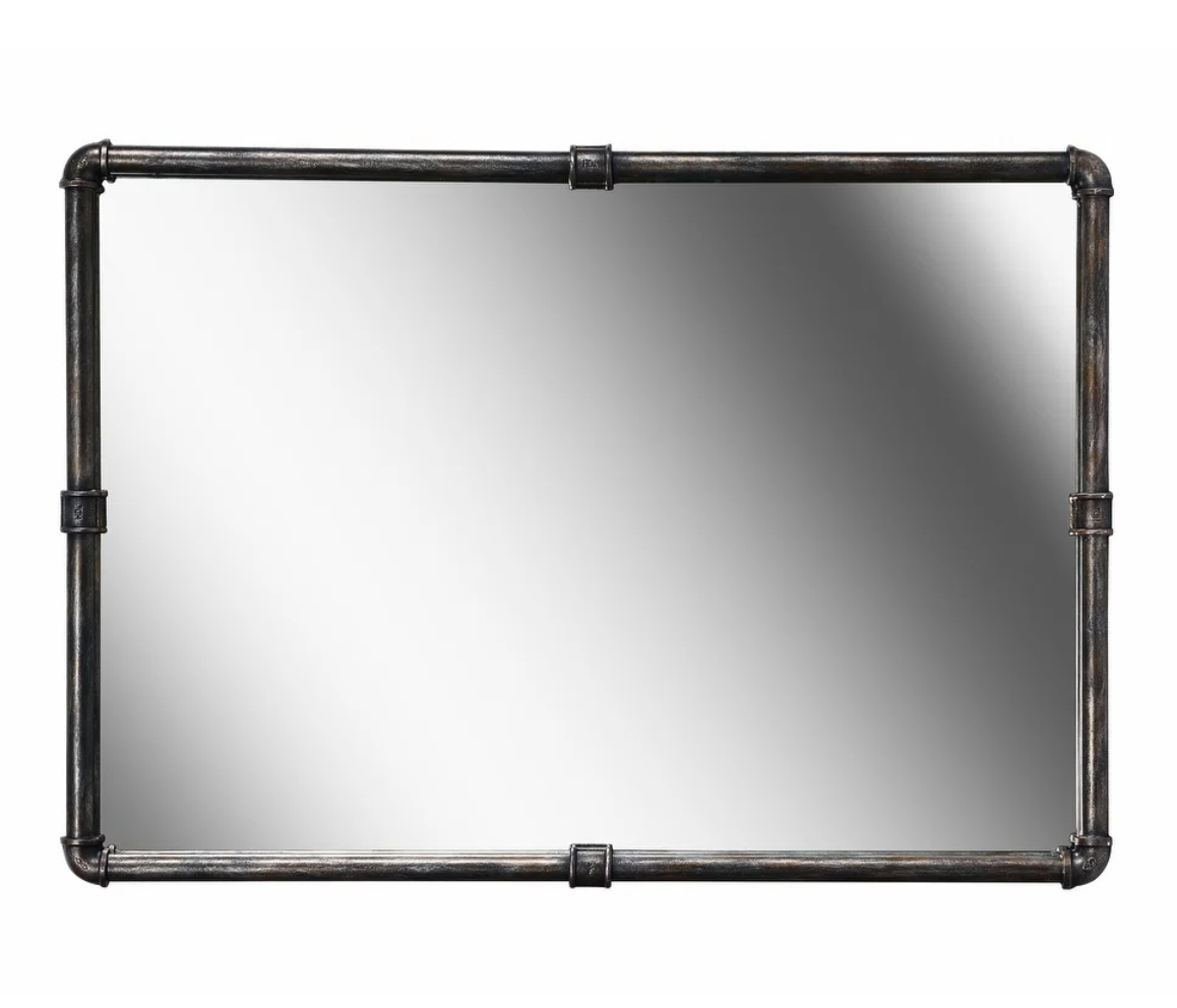 Vintage Steampunk Metal Wall Mirror from Overstock