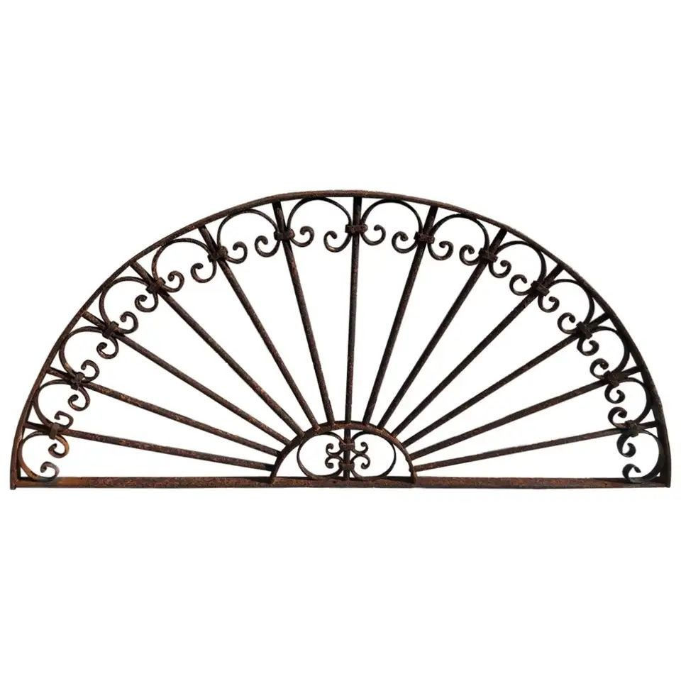 Antique Wrought Iron Decorative Window Guard from 1stDibs