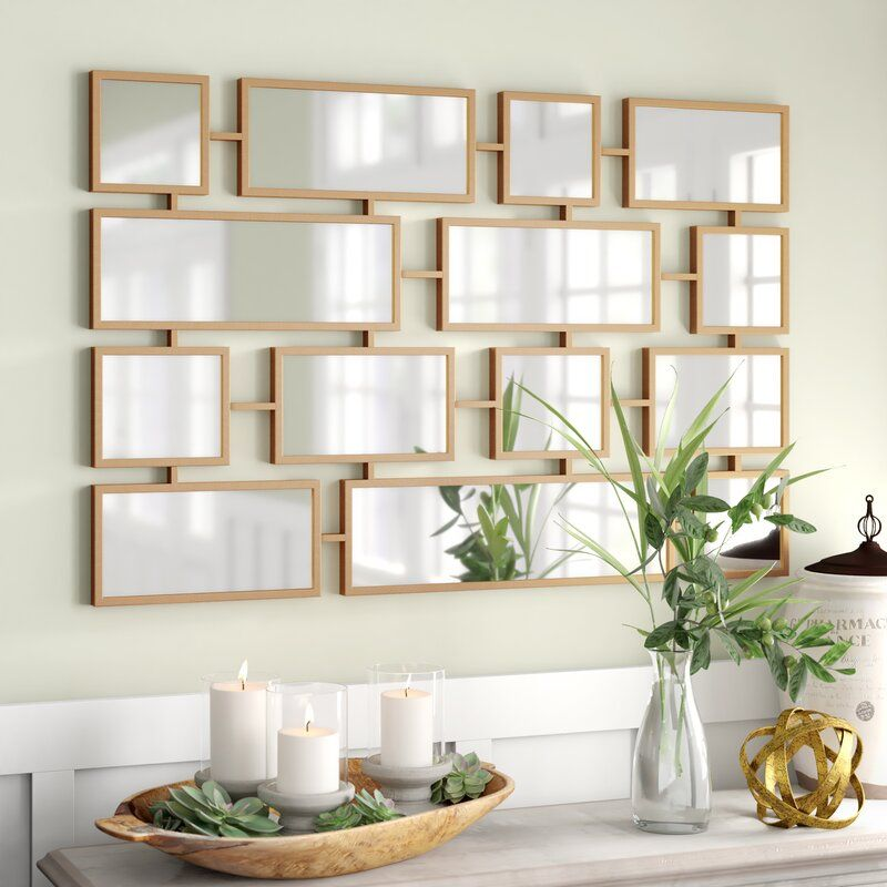 Forged Iron Rectangle Accent Mirror from Wayfair