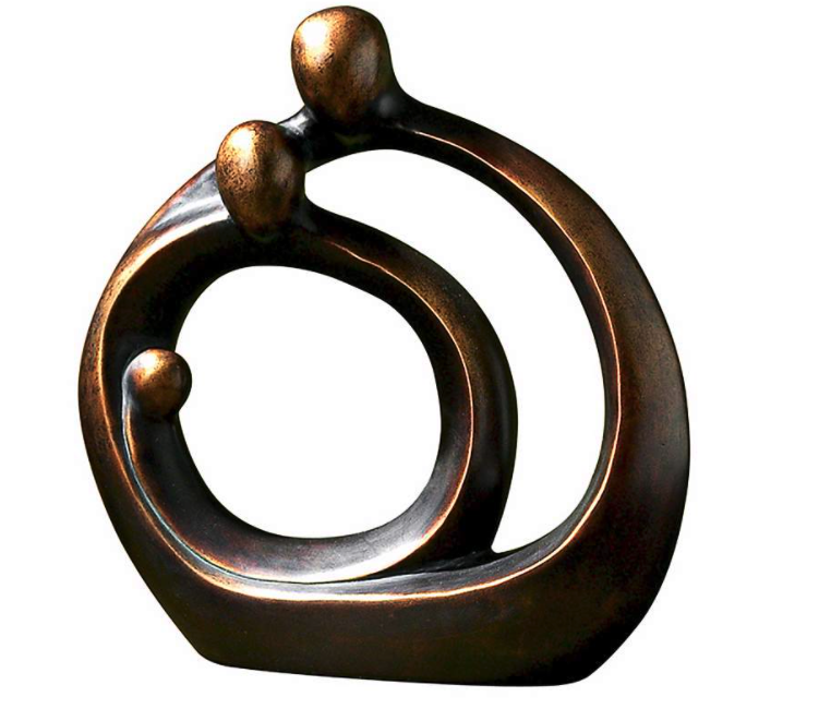 """Family Circles 14"""" High Decorative Modern Sculpture from LampsPlus"""