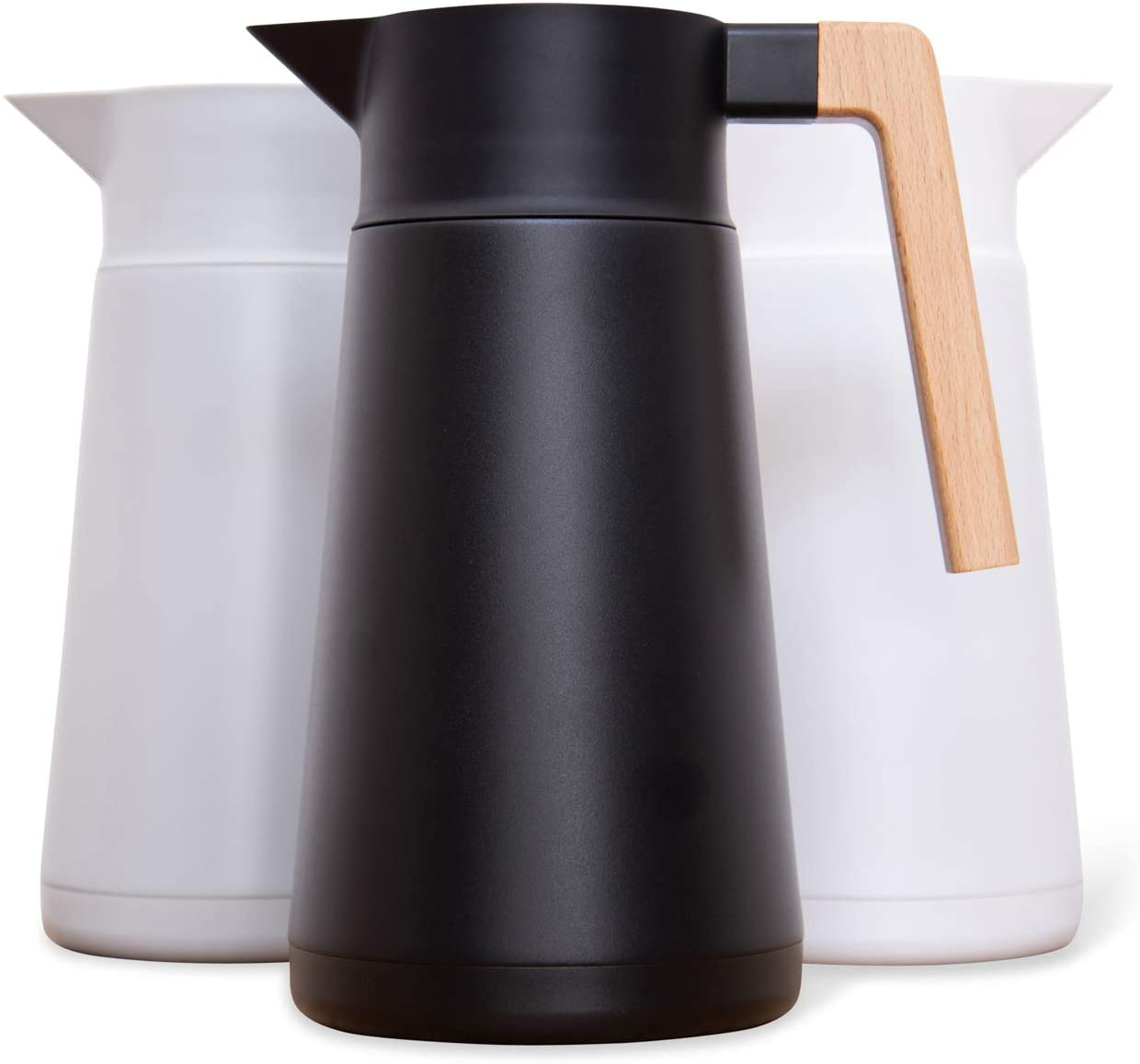 Large Thermal Coffee Carafe - Stainless Steel, Double Walled Thermal Pots For Coffee and Teas from Amazon