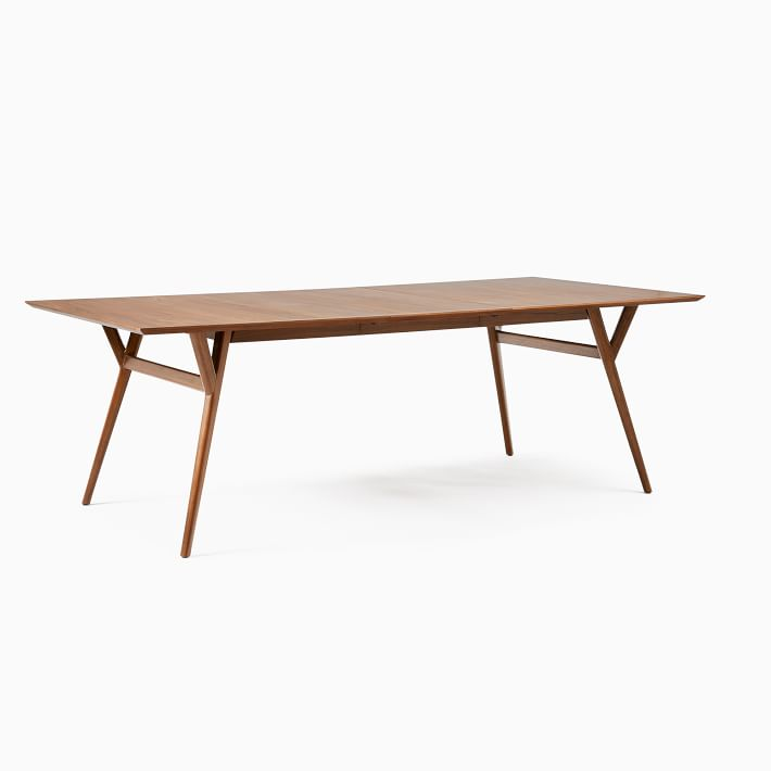 Extra Wide Mid Century Dining Table, Walnut from West Elm